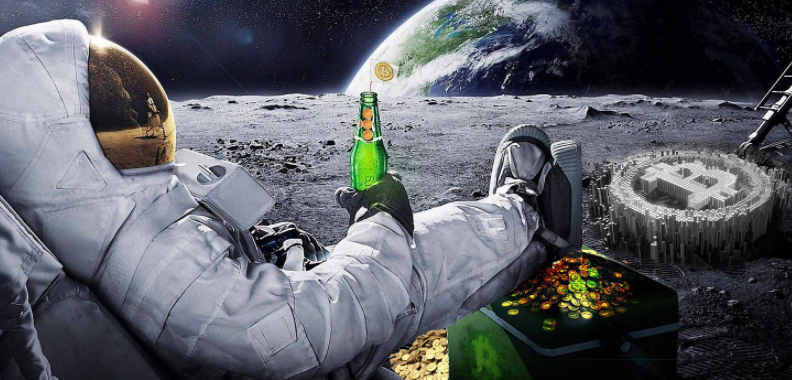 bitcoin to the moon 2021 over 40,000 usd